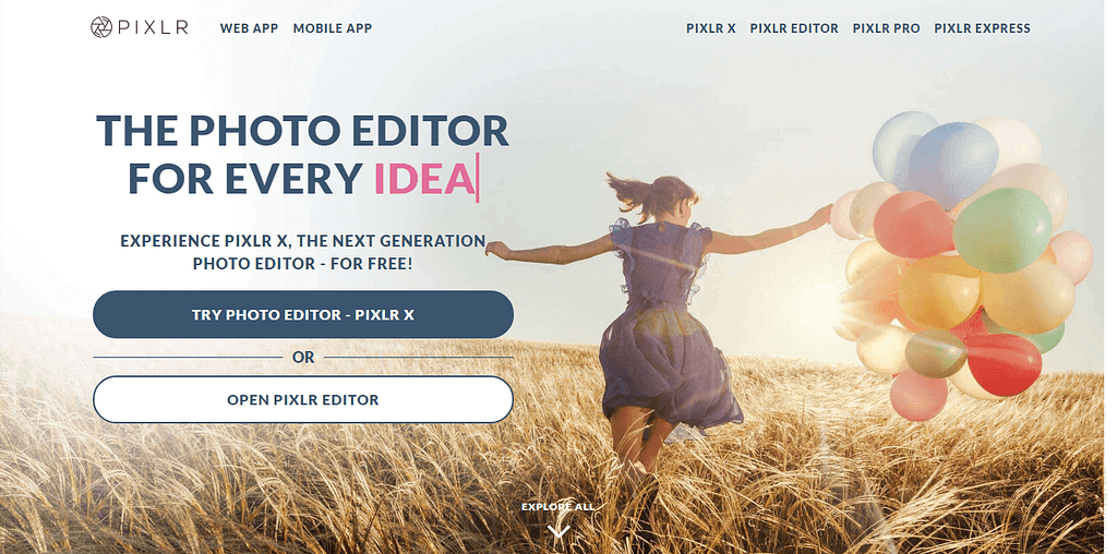 pixlr - best online photo editor websites & tools