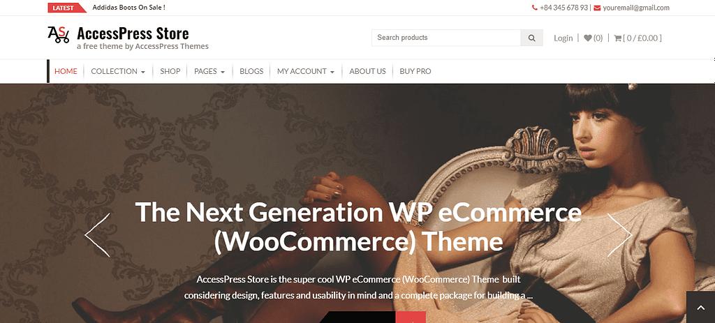 AccessPress Store Free WooCommerce Theme 2020