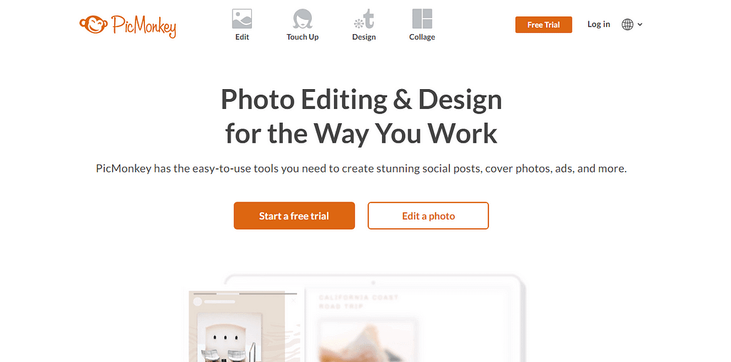Pickmonkey - best online photo editor websites & tools