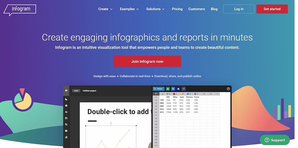infogram - best online photo editor websites & tools