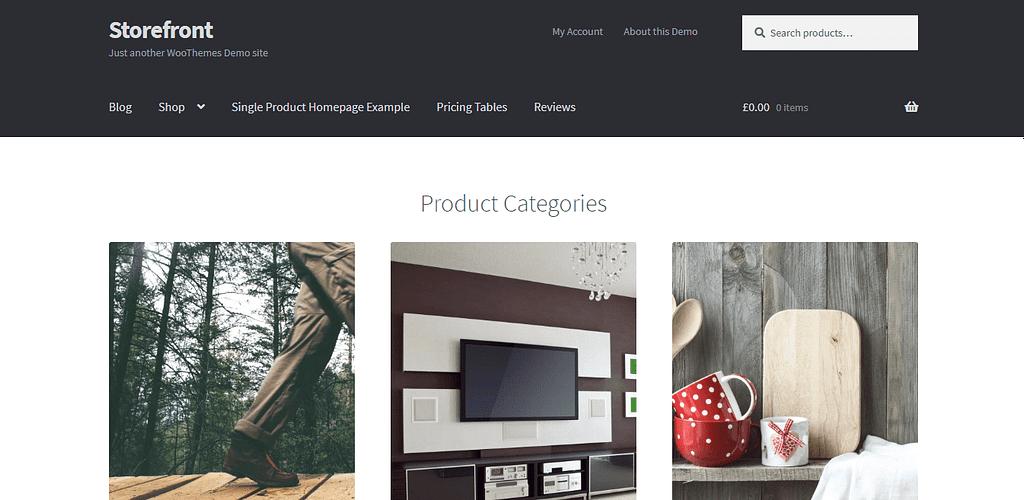 Storefront - Free WooCommerce WordPress theme