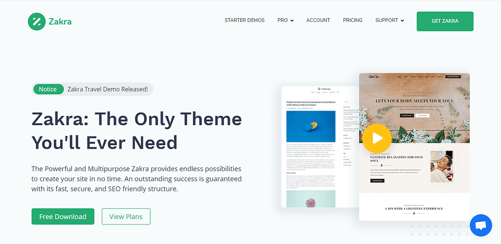 Zakra- Free WordPress theme