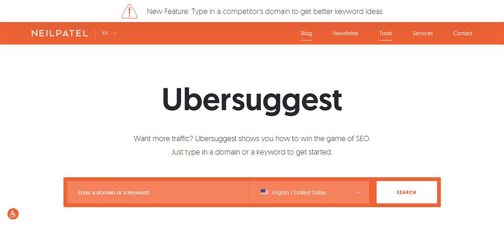 Ubersuggest: Free SEO Tool